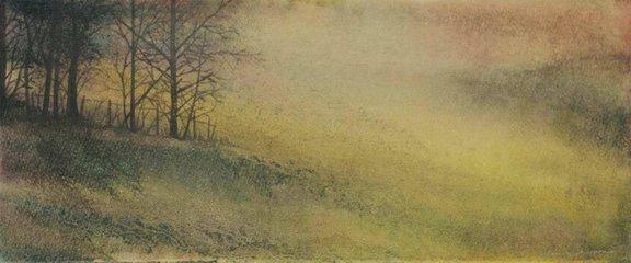 Dawn trees. 31:20cm